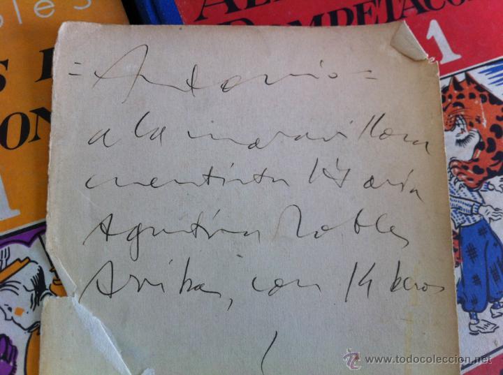 Libros de segunda mano: ALELUYAS DE ROMPETACONES. 1939. INCLUYE CUENTO INÉDITO, CORRECIONES Y DEDICATORIA DE ANTONIORROBLES. - Foto 13 - 42799560