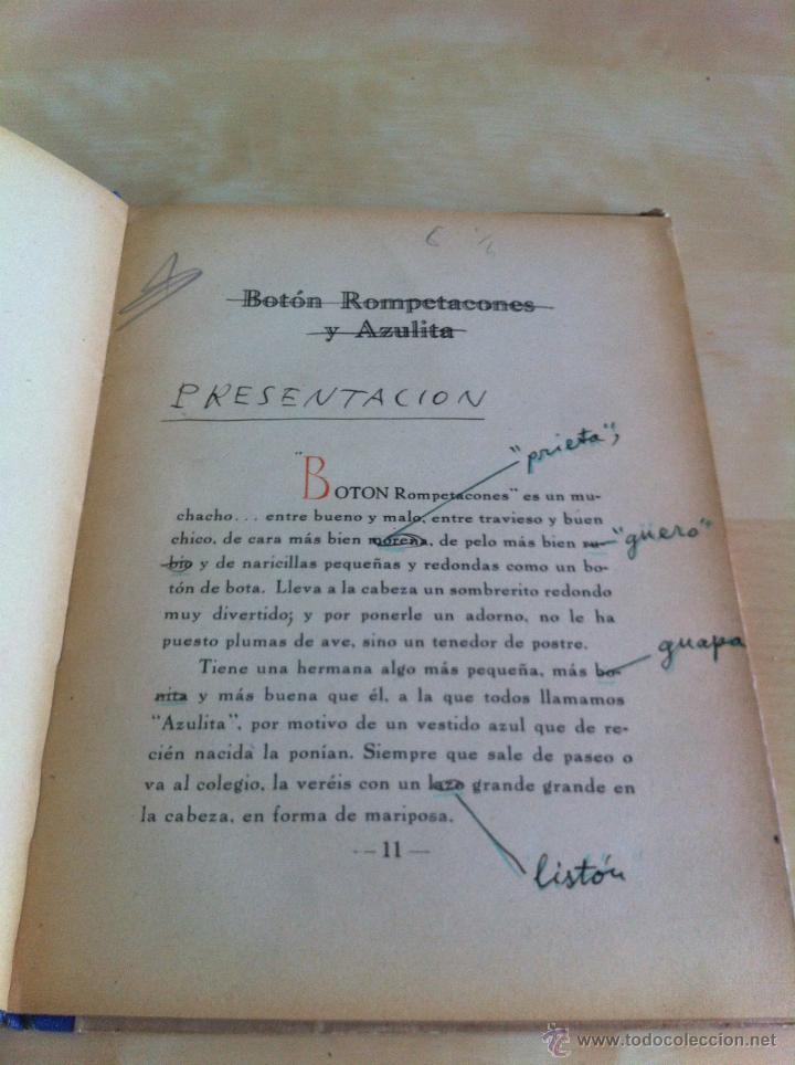 Libros de segunda mano: ALELUYAS DE ROMPETACONES. 1939. INCLUYE CUENTO INÉDITO, CORRECIONES Y DEDICATORIA DE ANTONIORROBLES. - Foto 23 - 42799560