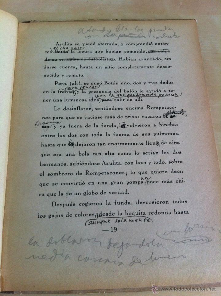 Libros de segunda mano: ALELUYAS DE ROMPETACONES. 1939. INCLUYE CUENTO INÉDITO, CORRECIONES Y DEDICATORIA DE ANTONIORROBLES. - Foto 112 - 42799560