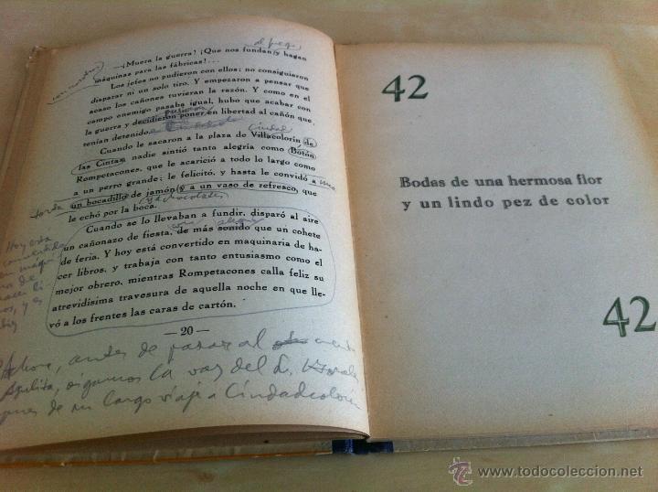 Libros de segunda mano: ALELUYAS DE ROMPETACONES. 1939. INCLUYE CUENTO INÉDITO, CORRECIONES Y DEDICATORIA DE ANTONIORROBLES. - Foto 127 - 42799560