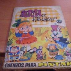 Libros de segunda mano: ALICIA EN EL PAIS DE LAS MARAVILLAS. CUENTO PARA PINTAR. ARCO IRIS BRUGUERA 1969 (LB9). Lote 42883823