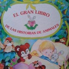 Libros de segunda mano: EL GRAN LIBRO DE LAS HISTORIAS DE ANIMALES EDUCATIVO CARTONE Y TAPAS DURAS. Lote 42895458