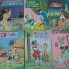 Libros de segunda mano: LOTE DE 12 CUENTOS, DE EDITORIAL VASCO AMERICANA 1962,. Lote 43240796