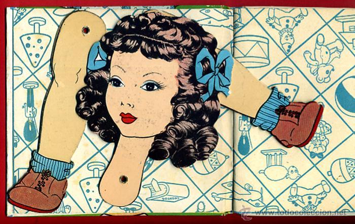 LIBRO MUÑECO , CUENTO , EL PREMIO DE MARISA , TROQUELADO , 1944 , ORIGINAL (Libros de Segunda Mano - Literatura Infantil y Juvenil - Cuentos)