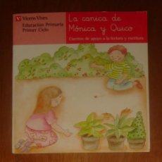 Livros em segunda mão: LA CANICA DE MÓNICA Y QUICO, DE CARMEN RODRÍGUEZ JORDANA Y ANA FERNÁNDEZ BUÑUEL. VICENS VIVES, 2002. Lote 43666719