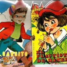 Libros de segunda mano: 2 CUENTOS TROQUELADOS : PULGARCITO + EL FLAUTISTA DE HAMELIN . Lote 43830254