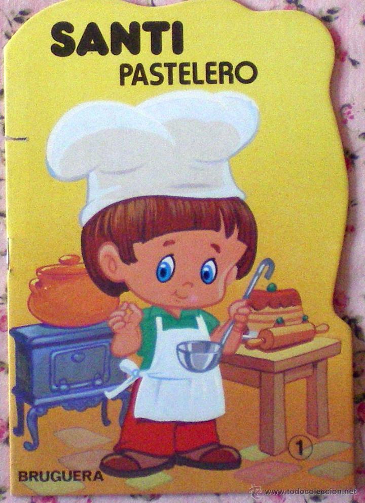COLECCIÓN PULGARCITO CUENTO TROQUELADO SANTI PASTELERO DIBUJOS CARLOS BUSQUETS 1ª EDICIÓN 1980 (Libros de Segunda Mano - Literatura Infantil y Juvenil - Cuentos)