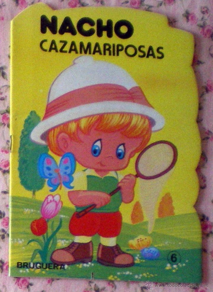 COLECCIÓN PULGARCITO CUENTO TROQUELADO NACHO CAZAMARIPOSAS DIBUJOS CARLOS BUSQUETS 1ª EDICIÓN 1980 (Libros de Segunda Mano - Literatura Infantil y Juvenil - Cuentos)