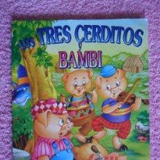 Libros de segunda mano: LOS TRES CERDITOS Y BAMBI LOS MEJORES CLÁSICOS SERVILIBRO. Lote 45014025