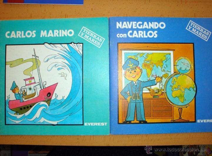 2 CUENTOS NUEVOS DE EVEREST 1981-82 TIERRAS Y MARES COLECCIÓN CARLOS Y SANDRA (Libros de Segunda Mano - Literatura Infantil y Juvenil - Cuentos)