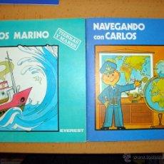 Libros de segunda mano: 2 CUENTOS NUEVOS DE EVEREST 1981-82 TIERRAS Y MARES COLECCIÓN CARLOS Y SANDRA. Lote 45124881