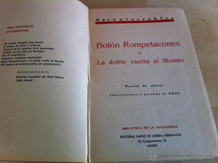 Libros de segunda mano: ALELUYAS DE ROMPETACONES. 1939. INCLUYE CUENTO INÉDITO, CORRECIONES Y DEDICATORIA DE ANTONIORROBLES. - Foto 308 - 42799560