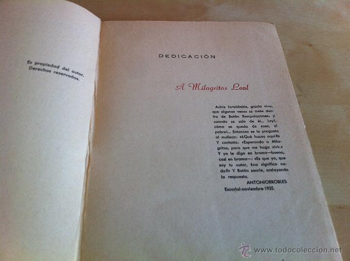 Libros de segunda mano: ALELUYAS DE ROMPETACONES. 1939. INCLUYE CUENTO INÉDITO, CORRECIONES Y DEDICATORIA DE ANTONIORROBLES. - Foto 310 - 42799560