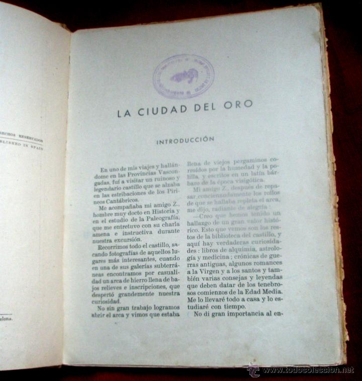Libros de segunda mano: Libro La ciudad del oro. La hazaña de Miguelín. Federico Trujillo. Ed.Ramón Sopena . Barcelona 1940 - Foto 6 - 45754891