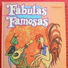 Libros de segunda mano: FÁBULAS FAMOSAS - VOLUMEN 5 - INTEREDICIONES1982 - LA CIGARRA Y LA HORMIGA - LA LECHERA . Lote 45841643