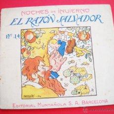 Libros de segunda mano: BARRADAS - 1920 - EL RATÓN SALVADOR - EDITORIAL MUNTAÑOLA. Lote 47619996