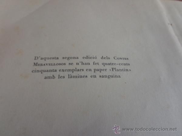 Libros de segunda mano: CONTES MERAVELLOSOS PER LOLA ANGLADA. BARCELONA, 1947. EDICIÓ DE 400 EXEMPLARS. - Foto 6 - 47800751