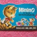 Libros de segunda mano: MININO Y LOS RATONES EDITORIAL BRUGUERA 1971 TROQUELADOS UNO DOS TRES 3 RAMON SABATES. Lote 47966506