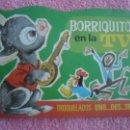 Libros de segunda mano: BORRIQUITO EN LA TV EDITORIAL BRUGUERA 1971 TROQUELADOS UNO DOS TRES 12 RAMON SABATES. Lote 47966541