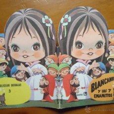 Libros de segunda mano: CUENTO TROQUELADO EDICION CUENTOS FHER COLECCION BURBUJAS 1987 BLANCANIEVES Y LOS 7 SIETE ENANITOS. Lote 48221033
