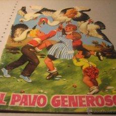 Libros de segunda mano: CUENTO TROQUELADO EL PAVO GENEROSO. TORAY. AÑO 1958. DESLUCIDO. 10 PGS.. Lote 48866094