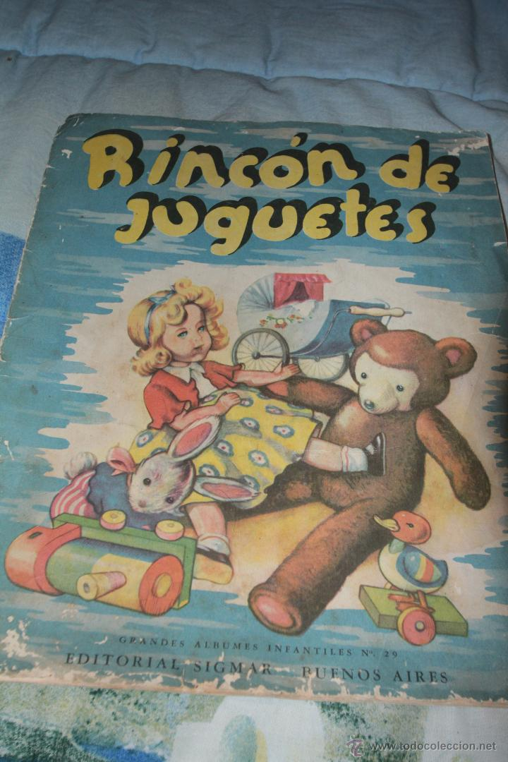 RINCÓN DE JUGUETES - EDITORIAL SIGMAR - 1951 - GRANDES ÁLBUMES INFANTILES -REF3500- (Libros de Segunda Mano - Literatura Infantil y Juvenil - Cuentos)