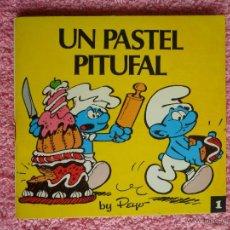 Libros de segunda mano: MINI CUENTOS PITUFOS 1 1981 BRUGUERA UN PASTEL PITUFAL EDICIÓN 1ª PEYO. Lote 49266600