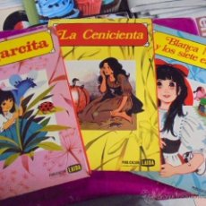 Libros de segunda mano: SUPER LOTE 3 CUENTOS LAIDA - COLECCION ROSA / PULGARCITA - CENICIENTA - BLANCA NIEVES ENANITOS. Lote 49468847