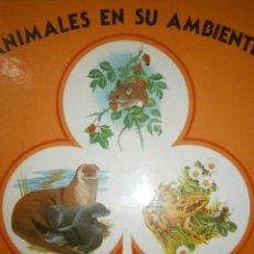 Libros de segunda mano: ANIMALES EN SU AMBIENTE NUMERO 1 LA NUTRIA LA RANA EL RATON FHER 1990. Lote 50187828