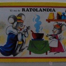 Libros de segunda mano: CUENTO TROQUELADEO EL REY DE RATOLANDIA, EDITORIAL ROMA,1985. Lote 50623795