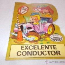 Libros de segunda mano: TROQUELADOS AUTO ESCUELA EXCELENTE CONDUCTOR CUENTO TROQUELADO. Lote 109253876