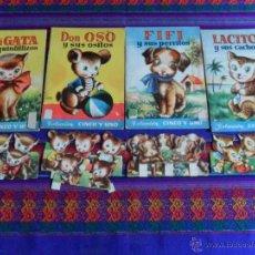 Libros de segunda mano: COLECCIÓN CINCO Y UNO 1 3 4 8 MAMÁ GATA LACITOS FIFI DON OSO. BRUGUERA AÑOS 50. RAROS.. Lote 51300110