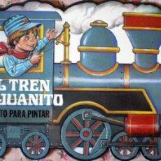 Libros de segunda mano: CUENTO TROQUELADO PARA ESCRIBIR Y PINTAR EL TREN DE JUANITO EDITORIAL GAVIOTA 1986 NUEVO. Lote 51354888