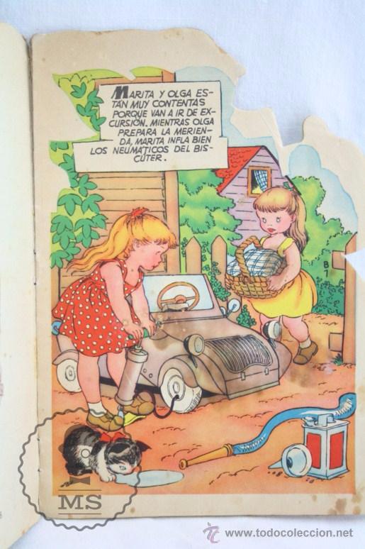 Libros de segunda mano: Antiguo Cuento Troquelado - El Biscuter - Ilus. A. Bañolas - Ed. Toray, Año 1958 - Foto 2 - 234615415