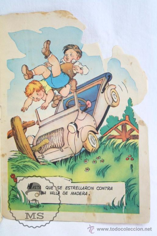 Libros de segunda mano: Antiguo Cuento Troquelado - El Biscuter - Ilus. A. Bañolas - Ed. Toray, Año 1958 - Foto 3 - 234615415