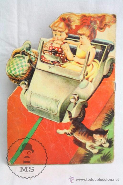 Libros de segunda mano: Antiguo Cuento Troquelado - El Biscuter - Ilus. A. Bañolas - Ed. Toray, Año 1958 - Foto 4 - 234615415