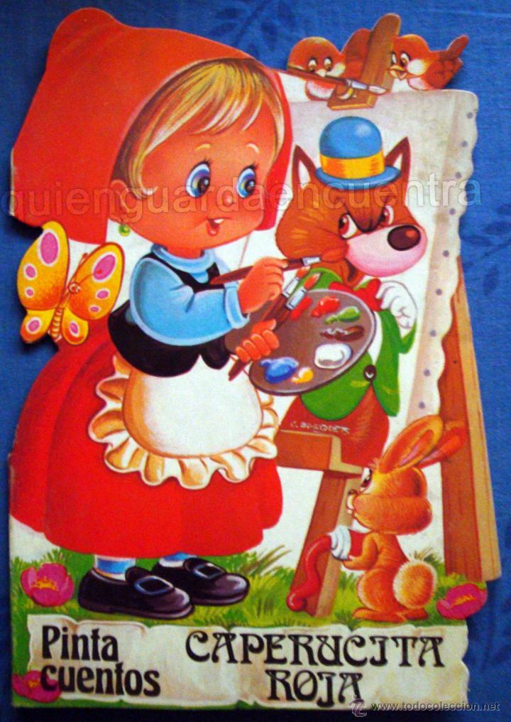 CAPERUCITA ROJA DIBUJOS C. BUSQUETS COLECCIÓN PINTA CUENTOS TROQUELADOS 1983 SALDAÑA NUEVO (Libros de Segunda Mano - Literatura Infantil y Juvenil - Cuentos)