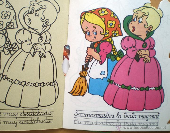 Libros de segunda mano: La Cenicienta dibujos C. Busquets colección pinta cuentos troquelados 1983 Saldaña nuevo - Foto 3 - 51565332