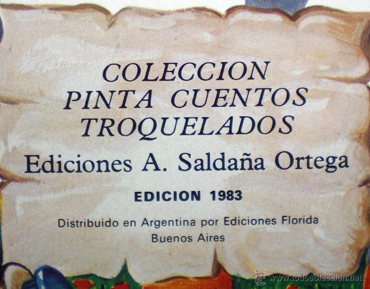Libros de segunda mano: Caperucita Roja dibujos C. Busquets colección pinta cuentos troquelados 1983 Saldaña nuevo - Foto 2 - 51565387