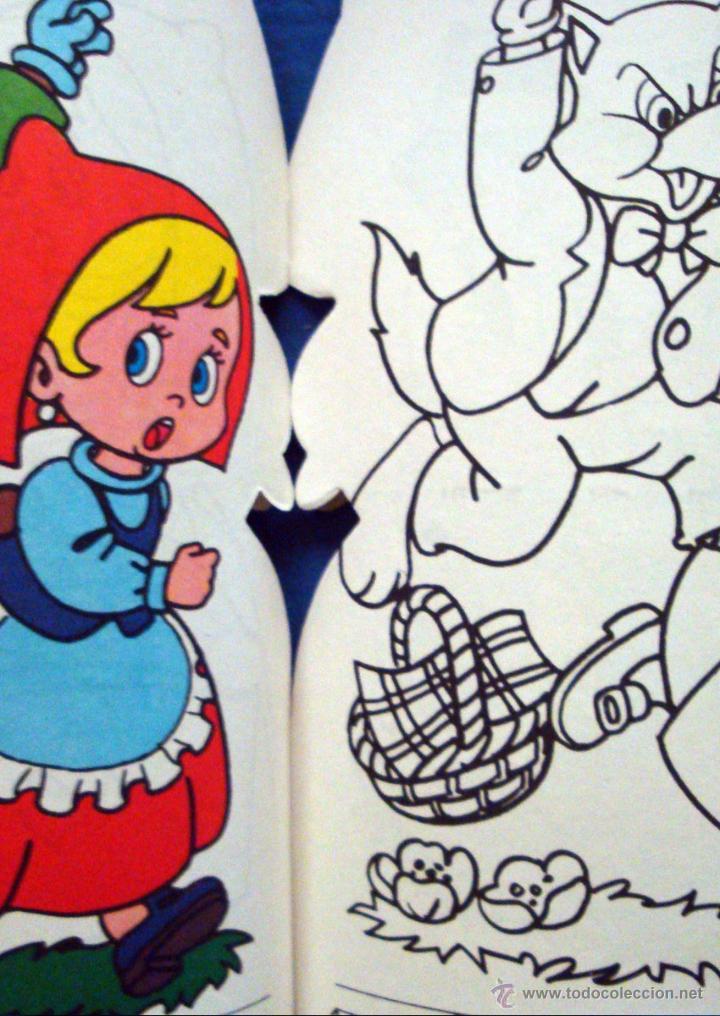 Libros de segunda mano: Caperucita Roja dibujos C. Busquets colección pinta cuentos troquelados 1983 Saldaña nuevo - Foto 3 - 51565387