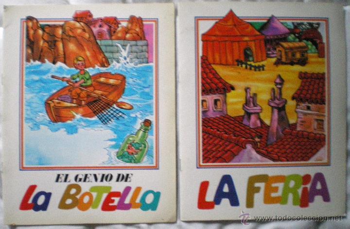 CUENTO INFANTIL COLECCIÓN TREBOL EDIEXPORT LOTE 2 CUENTOS LA FERIA EL GENIO DE LA BOTELLA NUEVO 1985 (Libros de Segunda Mano - Literatura Infantil y Juvenil - Cuentos)