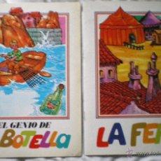 Libros de segunda mano: CUENTO INFANTIL COLECCIÓN TREBOL EDIEXPORT LOTE 2 CUENTOS LA FERIA EL GENIO DE LA BOTELLA NUEVO 1985. Lote 51661165