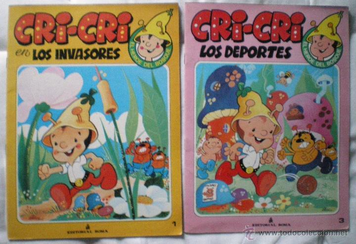 CUENTO CRI-CRI EL HEROE DEL BOSQUE LOTE 2 CUENTOS LOS INVASORES LOS DEPORTES ROMA 1984 NUEVOS (Libros de Segunda Mano - Literatura Infantil y Juvenil - Cuentos)