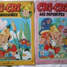 Libros de segunda mano: CUENTO CRI-CRI EL HEROE DEL BOSQUE LOTE 2 CUENTOS LOS INVASORES LOS DEPORTES ROMA 1984 NUEVOS. Lote 51661347