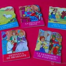 Libros de segunda mano: 5 CUENTOS TROQUELADOS EDITORIAL SUSAETA - 1985 - GENOVEVA DE BRABANTE, LA VENDEDORA DE FÓSFOROS.... Lote 52868431