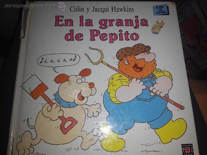 EN LA GRANJA DE PEPITO LIBRO CON VENTANAS JACQUI Y COLIN HAWKINS CUENTO ILUSTRADO (Libros de Segunda Mano - Literatura Infantil y Juvenil - Cuentos)