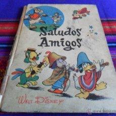 Libros de segunda mano: COLECCIÓN ED. VILCAR Nº 1 SALUDOS AMIGOS. WALT DISNEY. AÑOS 60. TAPA DURA. RARO.. Lote 53860855