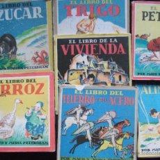 Libros de segunda mano: 7 LIBROS MAUD Y MISKA EL LIBRO DE DEL ARROZ VIVIENDA ALIMENTOS PETROLEO AZUCAR TRIGO HIERRO ACERO. Lote 54994477