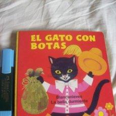 Libros de segunda mano: EL GATO CON BOTAS - MUY RARO - HOJAS DE CARTÓN DURO ILUSTADAS - CÍRCULO DE LECTORES 1973. Lote 104134114