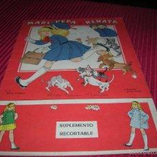 Libros de segunda mano: LIBRO MARI - PEPA Y RENATA CON SUPLEMENTO RECORTABLE. Lote 56328585
